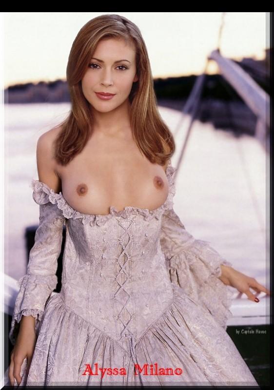 Free nude Celebrity Alyssa Milano 5 pic