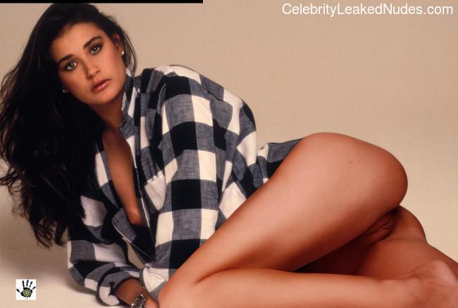 demi moore naked real