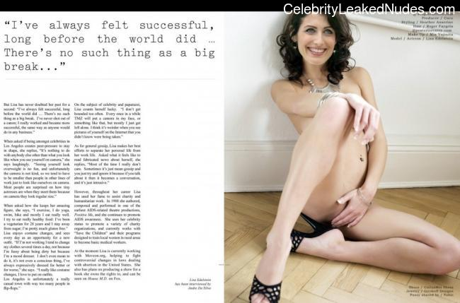Famous Nude Lisa Edelstein 3 pic