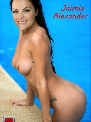 Jaimie Alexander topless