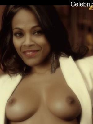 Zoe Saldana topless